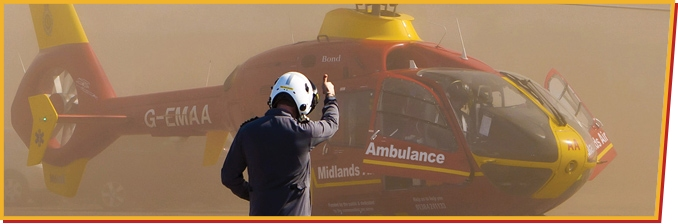 Midlands Air Ambulance in Action